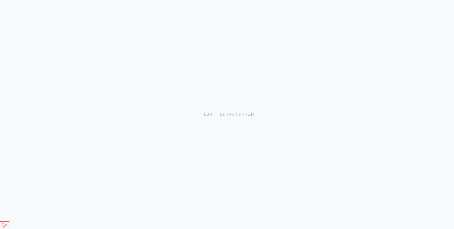 The default Statamic error page