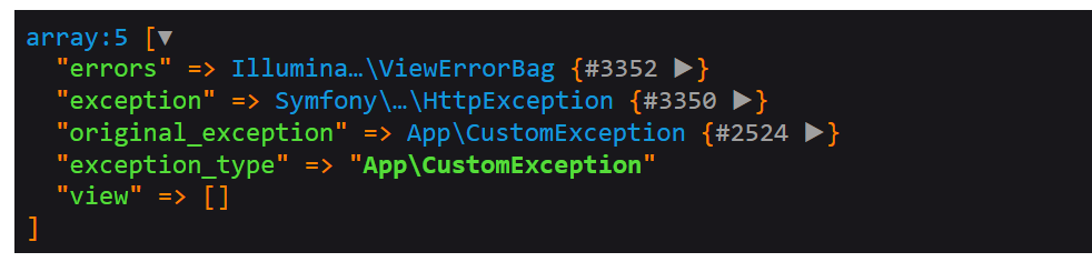 Example of Custom Exception Names